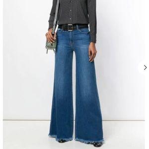 NWT FRAME frayed hem flared jeans size 27